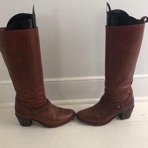 Frye Shoes - Frye Cognac Leather Heeled Boot 7.5
